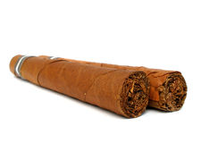 Two caribbean cigars Royalty Free Stock Photo