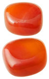 Two carnelian (cornelian, sard) gemstones Royalty Free Stock Image