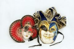 Two carnival mask Royalty Free Stock Images