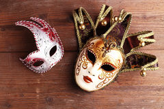 Two carnival masks Royalty Free Stock Image