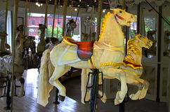 Two Carousel Horses Royalty Free Stock Photography