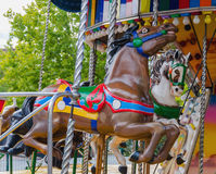 Two carousel horses Stock Image