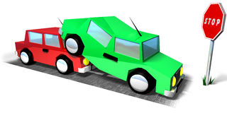 Two cars Royalty Free Stock Photo
