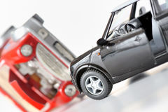 Two cars in an accident Royalty Free Stock Photo