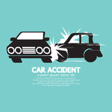 Two Cars In An Accident. Stock Photos