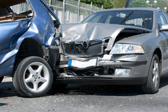 Two Cars Crashed Royalty Free Stock Images