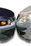 Two cars parked against each other Stock Image