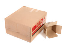 Two carton boxes Royalty Free Stock Photo