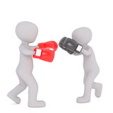 Two Cartoon Boxers Sparring in Boxing Match stock illustration