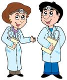 Two cartoon doctors Stock Image