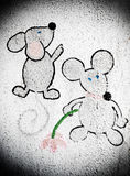 Two cartoon mouses Stock Images