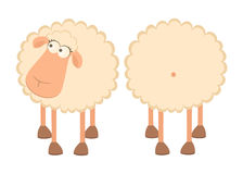 Two cartoon sheep Stock Photography