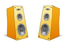 Two  cartoon speakers Stock Photo