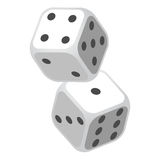 Two Casino Gambling Dices Vector Illustration Stock Photos