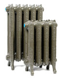 Two cast iron radiators. For home Royalty Free Stock Photo