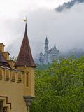 Two castles. Famous Hohenschwangau and Neuschwanstein castles in Bavaria, Germany Stock Image