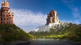 Two castles on the river Stock Photography