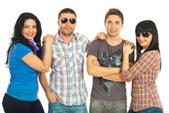 Two casual couples Stock Image