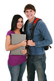 Two Casual Dressed College Student Royalty Free Stock Photos