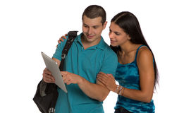 Two Casual Dressed College Student Isolated Royalty Free Stock Photography