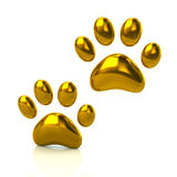 Two cat`s golden paws Royalty Free Stock Image