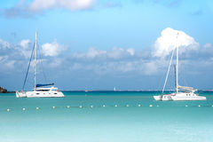 Two Catamarans Stock Images