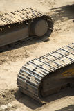 Two Caterpillar Vehicle Track Stock Image