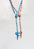 Two Catholic rosary with crucifix Stock Photos
