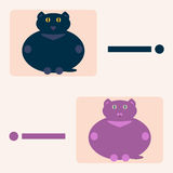 Two cats. Indicate the direction Royalty Free Stock Photos