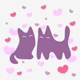 Two cats in love Royalty Free Stock Photo