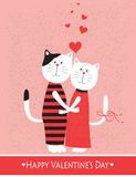 Two cats in love. Royalty Free Stock Images