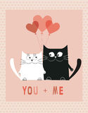 Two Cats in  love Royalty Free Stock Photos