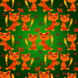 Two cats seamless pattern Royalty Free Stock Photography