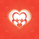 Two cats on Valentine's Day Royalty Free Stock Photos
