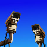 Two cctv cameras Stock Photo