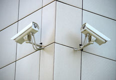Two CCTV cameras Royalty Free Stock Image