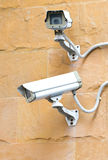Two CCTV Security Cameras. Royalty Free Stock Photography