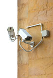 Two CCTV Security Cameras. Royalty Free Stock Photo