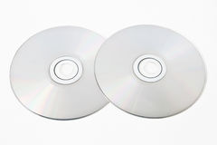 Two cd. On white background Royalty Free Stock Photos