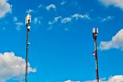 Two Cell Towers Royalty Free Stock Photography