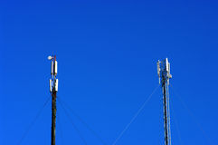 Two Cellular Transmitters Royalty Free Stock Image