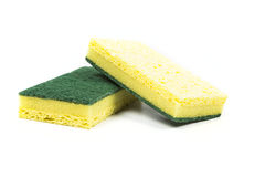 Two cellulose sponges Stock Photography