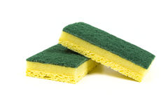 Two cellulose sponges Stock Photo