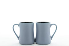 Two ceramic cup with handle Stock Image