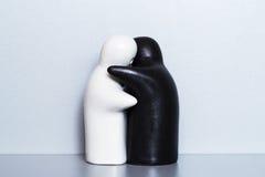 Two ceramic figures stock image