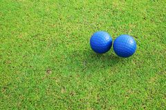 Two ceramic golf ball Royalty Free Stock Photography