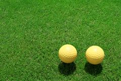 Two ceramic golf ball Stock Image