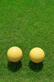 Two ceramic golf ball Stock Photography