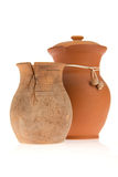 Two ceramic jugs. On isolated background Stock Image