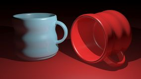 Two ceramic mugs Royalty Free Stock Images